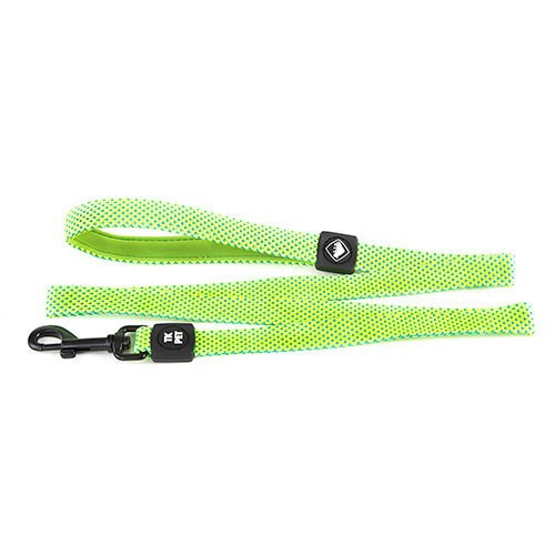 TK-Pet Neo Design Nylon lime leash for dogs with neoprene handle