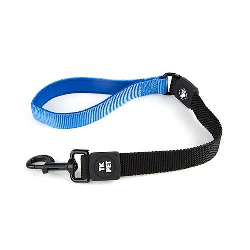 Correa corta para perros TK-Pet Shock Control azul con asa de neopreno