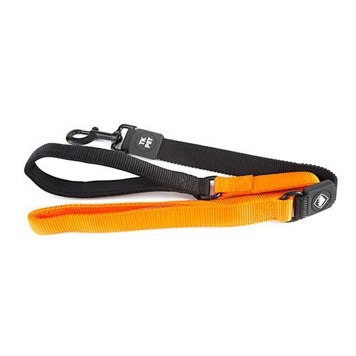 Correa para perros TK-Pet Shock Control naranja con asa de neopreno