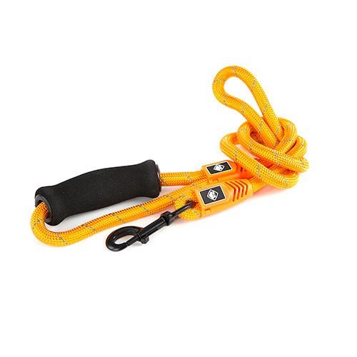 Correa para perros de nylon redondo TK-Pet Reflective Rope naranja con asa