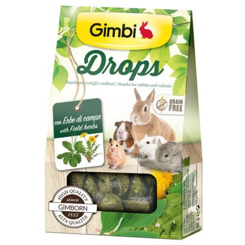Snacks para roedores GimBi Drops Hierba campo