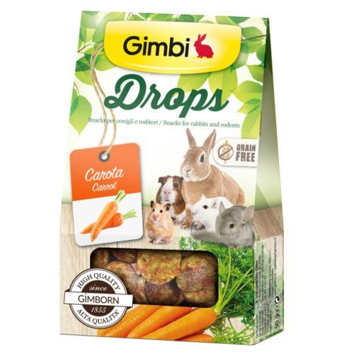 Snacks para roedores GimBi Drops Zanahoria