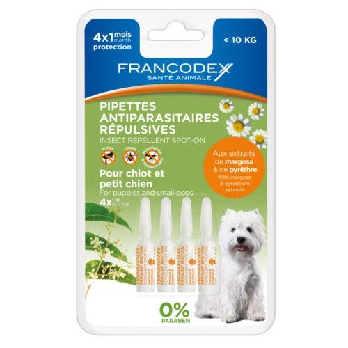 Pipetas antiparasitarias naturales para perros Francodex