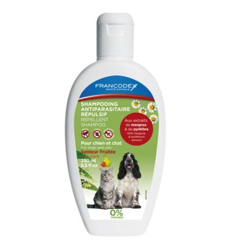 Champú antiparasitario para perros y gatos natural Francodex