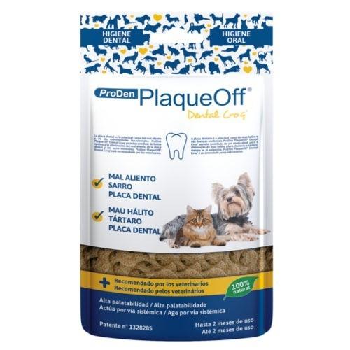 Snack dental para perros y gatos PlaqueOff Dental Croq