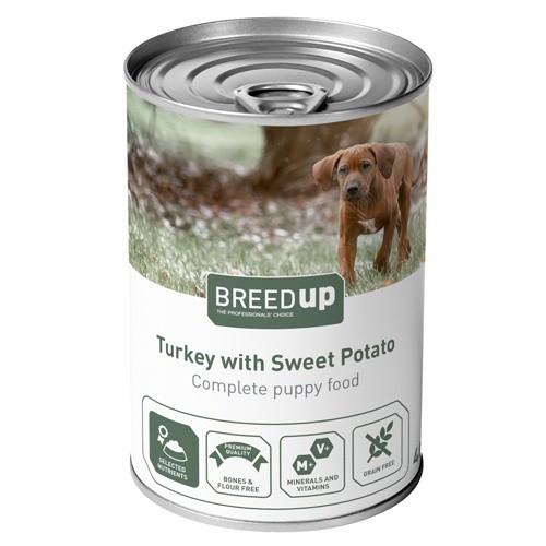 Comida húmeda para perros Breed Up Puppy de pavo con batata