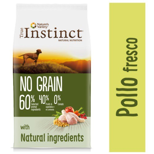 Pienso para perros adultos True Instinct No Grain Medium - Maxi con pollo
