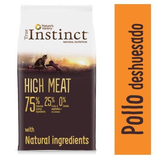 Pienso para gatos True Instinct High Meat Pollo