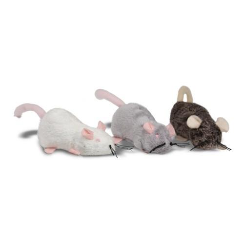 Ratones de peluche rellenables de catnip para gatos