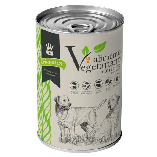 Alimento húmedo vegetariano con frutas para perros Criadores