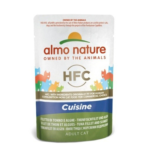 Comida húmeda de filete de atún y algas Almo Nature Rouge Label
