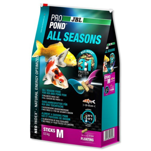 Jbl propond all seasons alimento para peces de estanque for Comida para peces de estanque