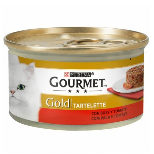 Gourmet Gold Tartelette con buey y tomates para gatos