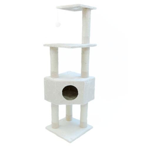 Rascador 4 alturas con refugio TK-Pet Lira