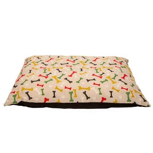 Cama colchón estampado huesos TK-Pet