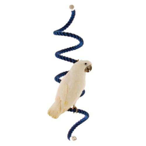 Percha de algodón en forma de liana para loros