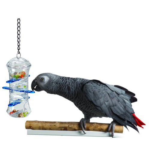 Interactive toy treats dispenser for parrots