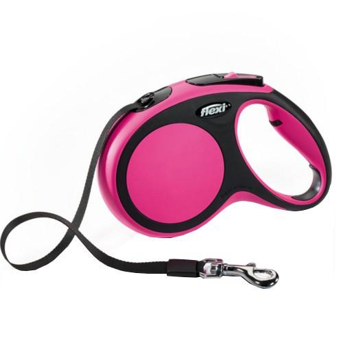 Flexi New Comfort correa extensible de cinta rosa