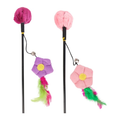 Caña con flor de peluche Happy Flower