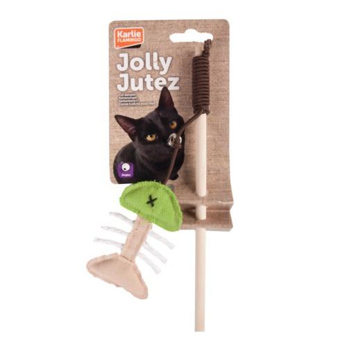 Caña con juguete para gatos