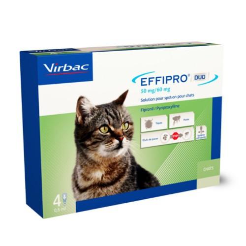 Pipetas para gatos Effipro Duo antiparásitos