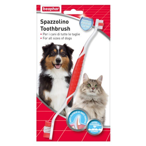 Cepillo dental para perros y gatos