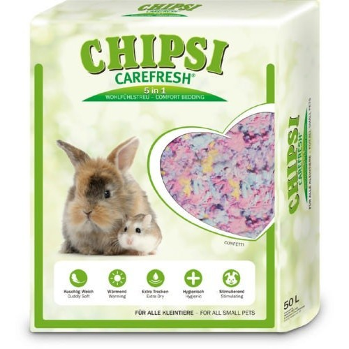 Lecho Carefresh Confetti multicolor para roedores