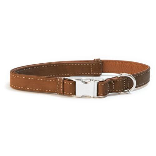 Collar de cuero para perros Wondermals Bisonte marrón