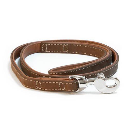 Correa de cuero para perros Wondermals Bisonte marrón
