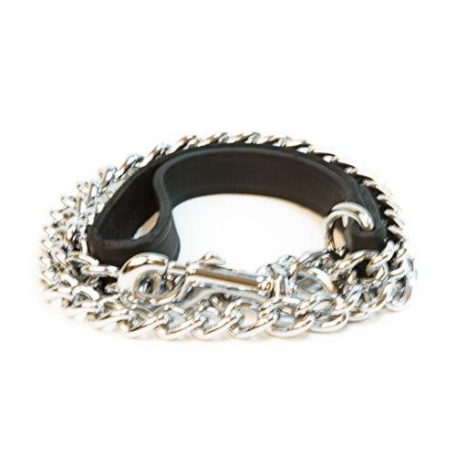 Correa de metal para perros Nevado negro