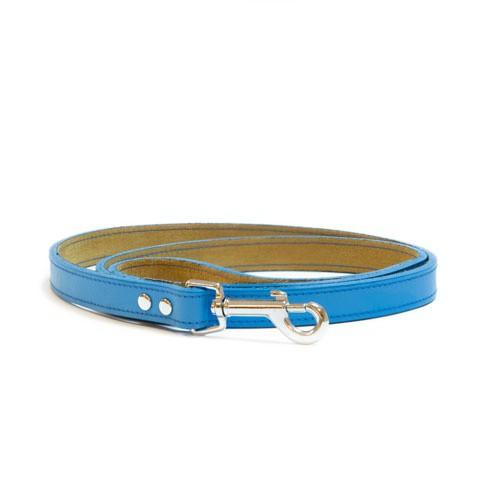 Correa de cuero TK-Pet Clásica azul