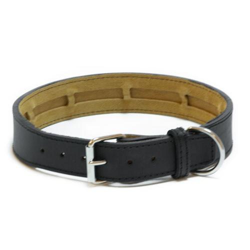Collar de cuero TK-Pet Clásico negro