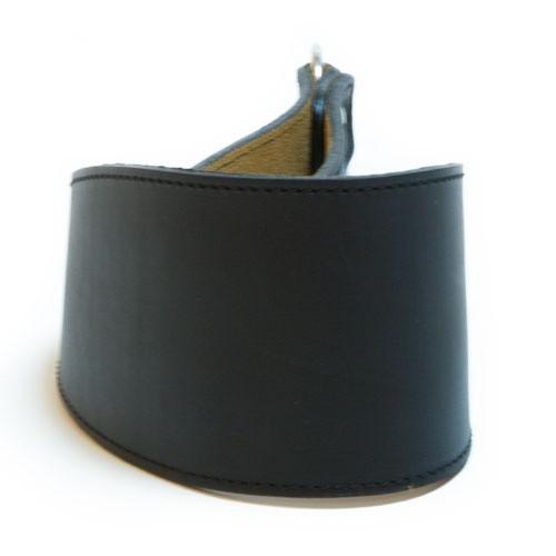 Collar de cuero para galgos Clásico negro