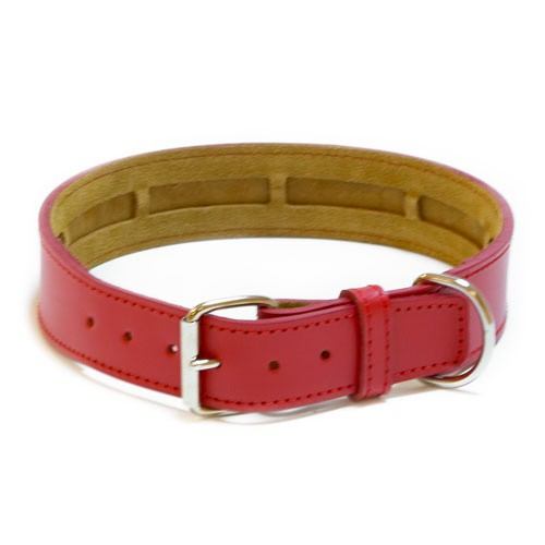 Leather necklace TK-Pet Clásico red