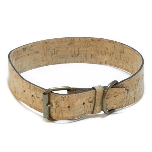 Collar de corcho TK-Pet Nature marrón claro