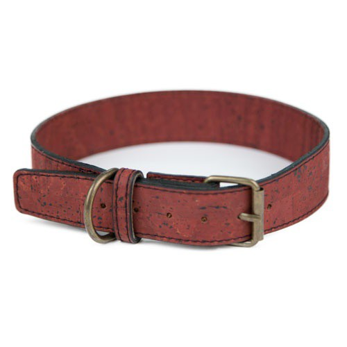 Collar de corcho TK-Pet Nature marrón oscuro
