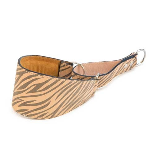 Collar de piel para galgos TK-Pet Zebra