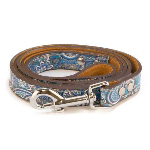 Correa de piel TK-Pet Paisley azul
