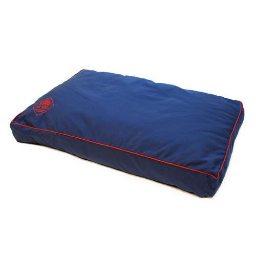 Cama viscoelástica tipo colchón TK-Pet Woof azul