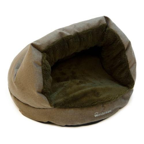 Cama cueva para gatos Wondermals Luxe marrón