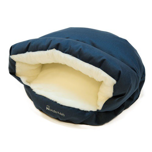 Cama cueva para gatos Wondermals Luxe azul marino