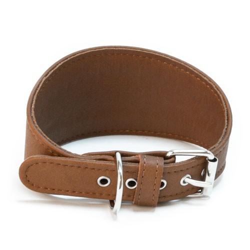 Collar sintético para galgos TK-Pet marrón