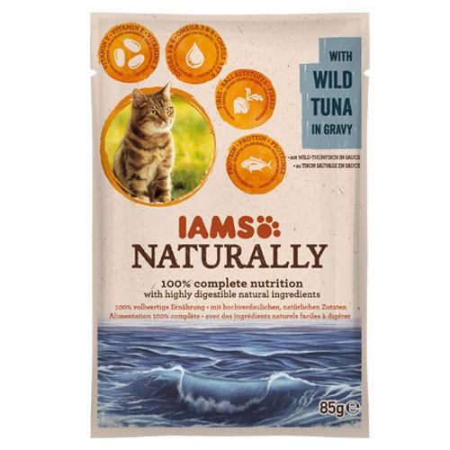 IAMS Naturally húmedo con atún para gatos