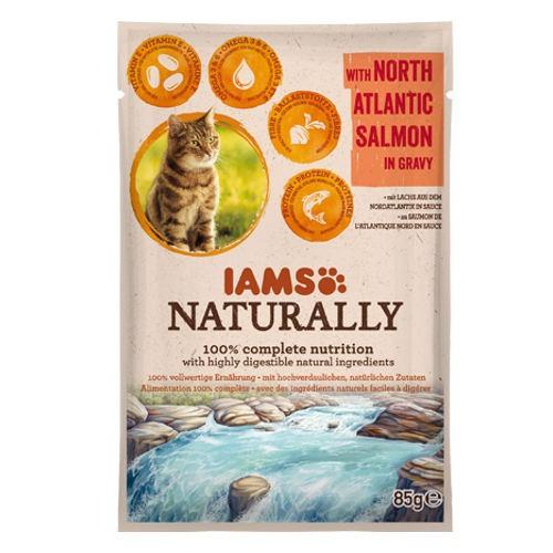 IAMS Naturally húmedo con salmón para gatos