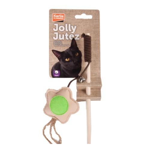 Caña con flor y cascabel para gatos