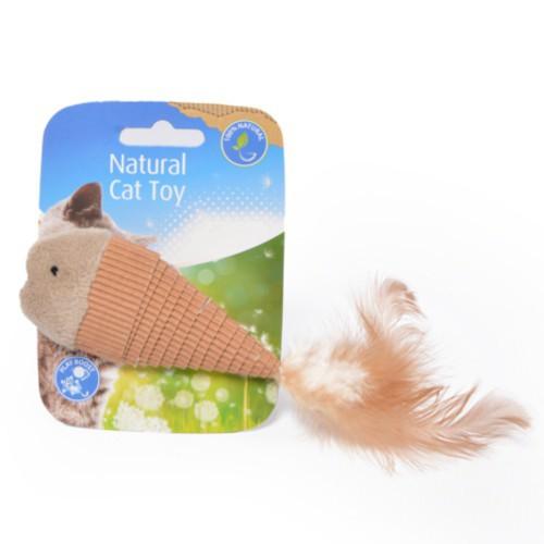 Juguete de cartón natural para gatos