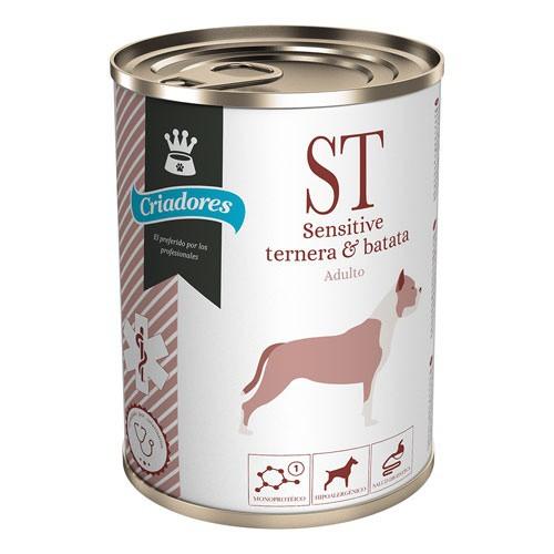 Alimento húmedo Criadores Dietetic Sensitive ternera y batata