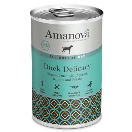 Amanova Bio Grain Free lata de húmedo con pato