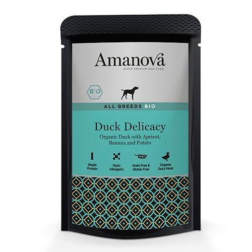 Amanova Bio Grain Free bolsita húmeda con pato