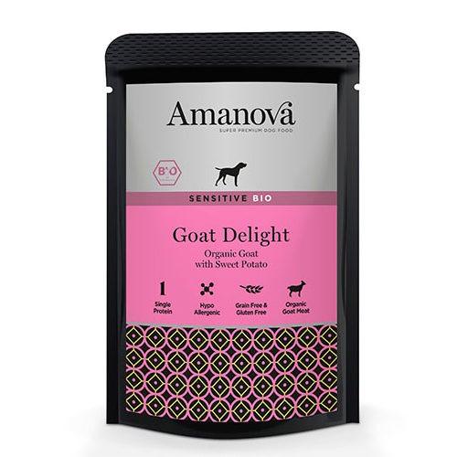 Amanova Bio Grain Free bolsita húmeda con cabra